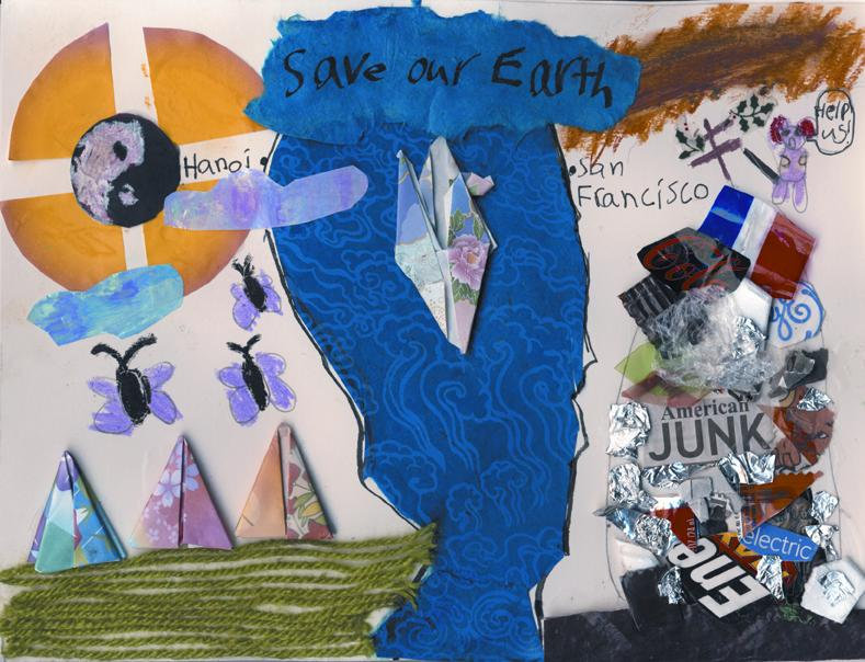 Mariah Nga Thi Orsulak / Helping to Save Our Earth / 3rd Place / 2nd Grade