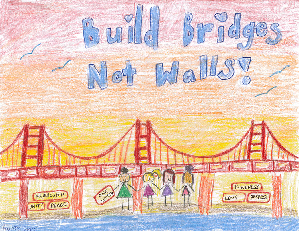 Aubrey Ilasco, Build Bridges Not Walls, 2nd Grade
