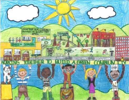 Abigail An-Yen Cheng / Working Together to Build a Green Community / Winner / 2nd Grade