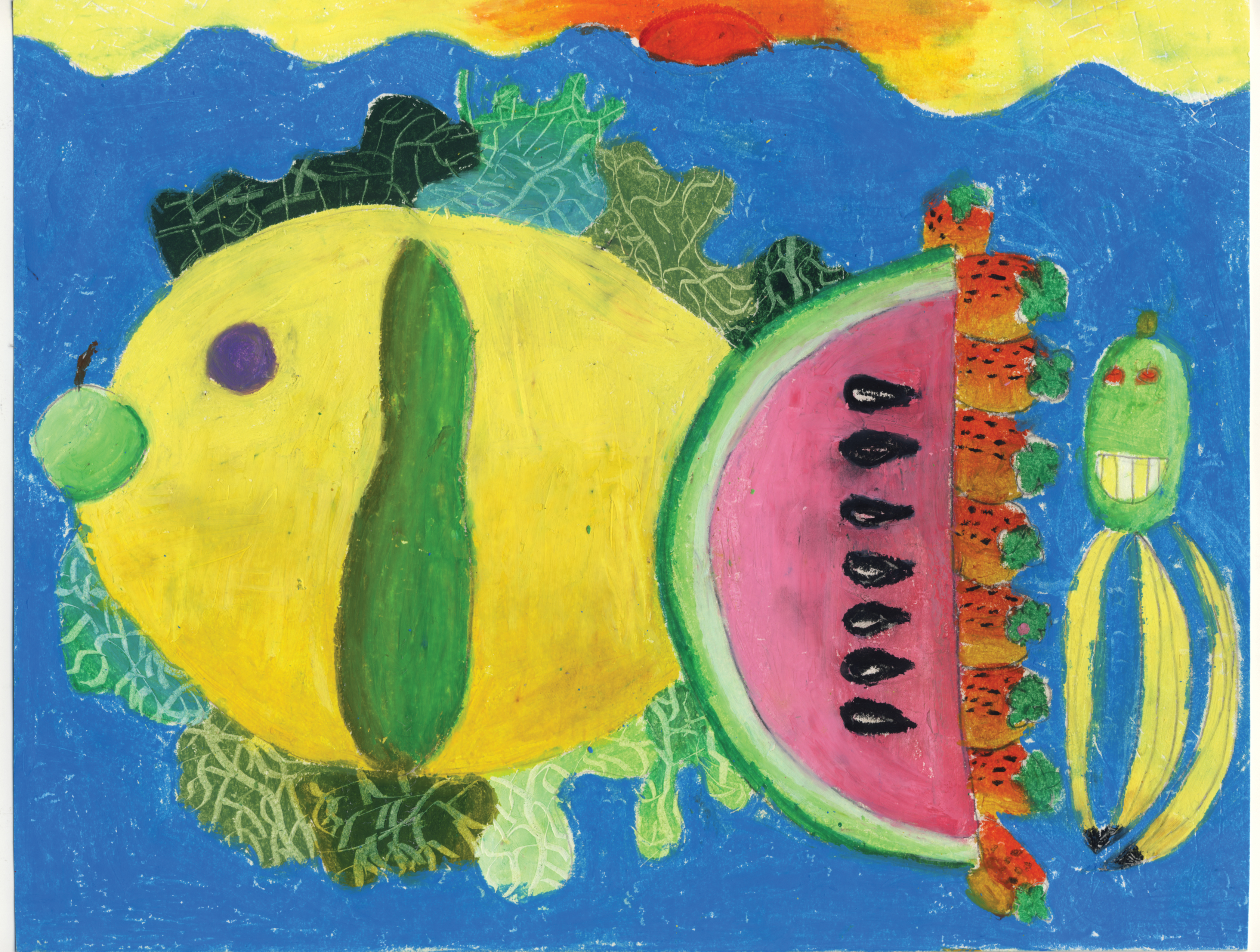 Teresa Si-Teng Wan / Eating Fish with Head / 2nd Place / 2nd Grade