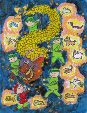 Joshua Lu / Dancing Dragon / Honorable Mention / Grade 4