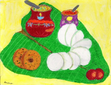 Akshaya Ganesh / South Indian Idly, Vada, Sambar Breakfast / Honorable Mention / 1st Grade