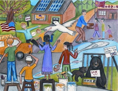 Emily Li / Together We Change the World / 3rd Place / 6th Grade