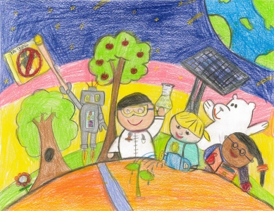 Aiden Leung, One Green World With Love, 1st Grade
