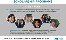 Apply for 2015 Asian Pacific Fund Scholarships