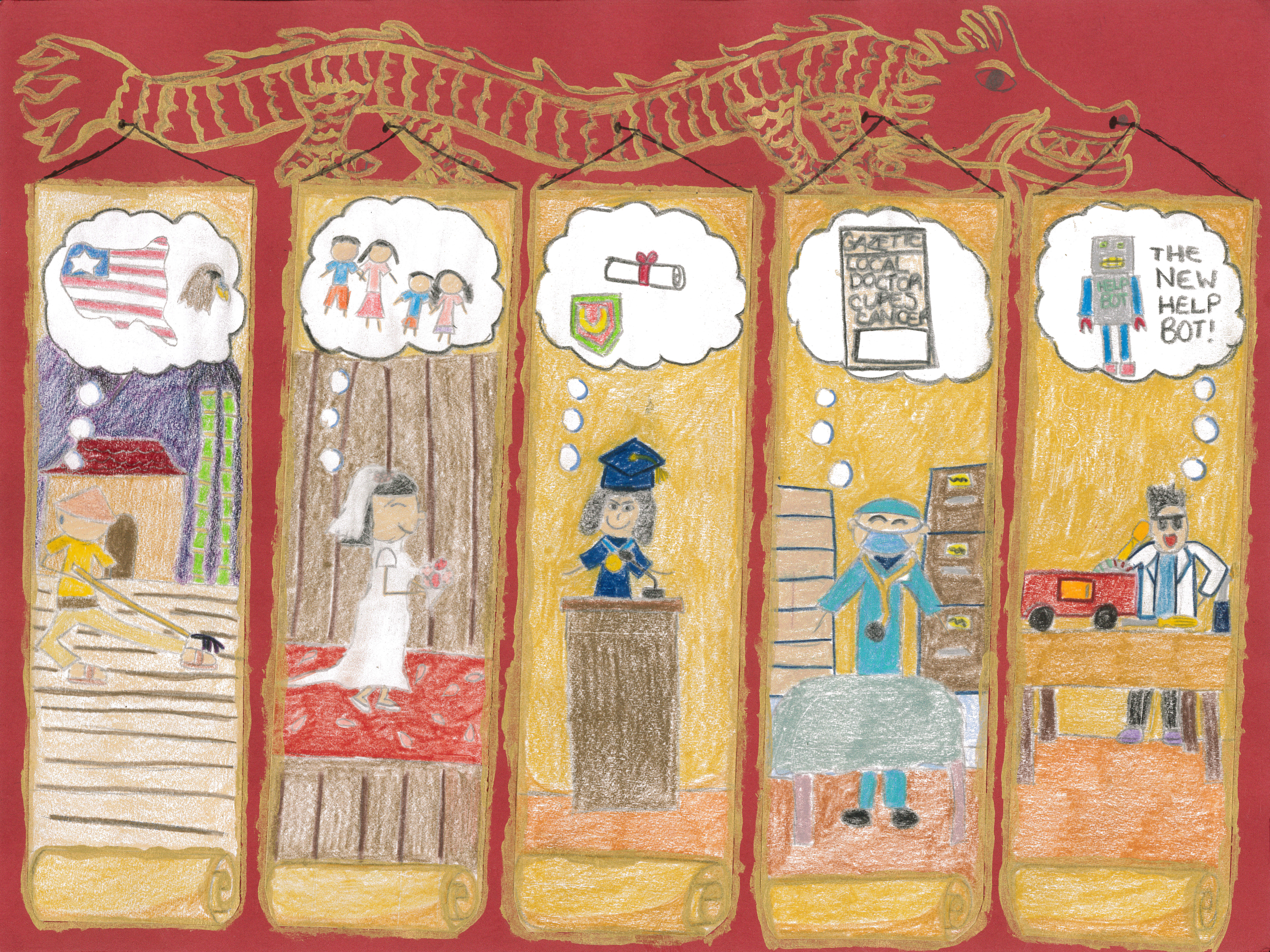 Alexis Kong / Generations and Their Dreams / Honorable Mention / Grade 5
